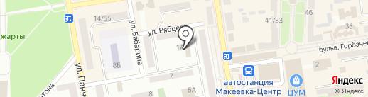 Управление образования Макеевского городского совета на карте Макеевки