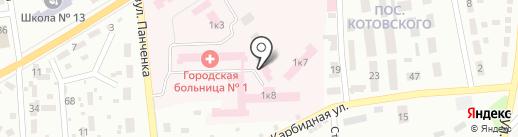 Клиническая Рудничная больница на карте Макеевки
