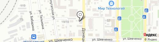 Макеевский рабочий на карте Макеевки
