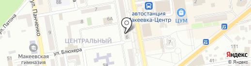 Здравица на карте Макеевки