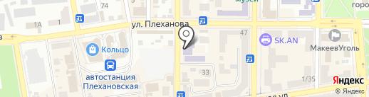 Макеевский политехнический колледж на карте Макеевки