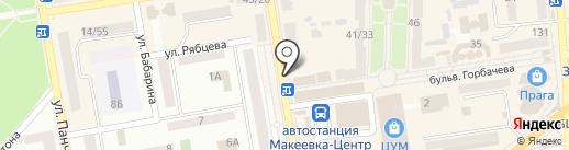 Киоск по продаже хлебобулочной продукции на карте Макеевки