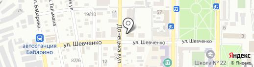 Джамайка на карте Макеевки