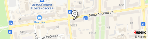 Универсал-1 на карте Макеевки