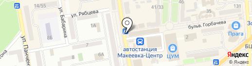 Магазин посуды на карте Макеевки