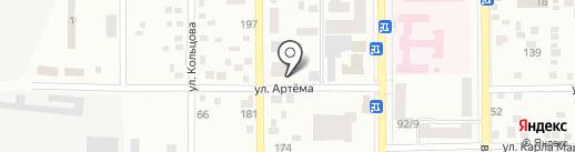 Метан на карте Макеевки