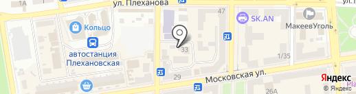 Макеевский межрайонный отдел Государственной службы вневедомственной охраны на карте Макеевки