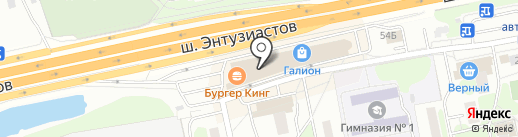 Симплекс на карте Балашихи