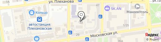 Макеевский межрайонный отдел государственной службы охраны при ГУМВД Украины в Донецкой области на карте Макеевки