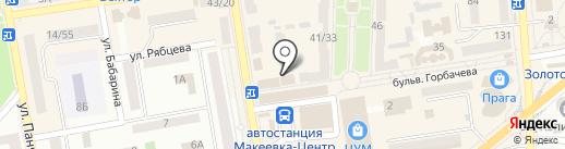 Локон на карте Макеевки