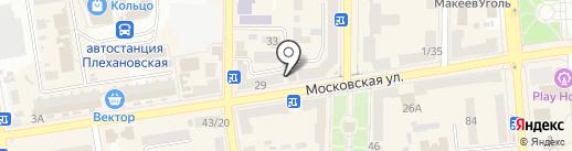 Чайков на карте Макеевки