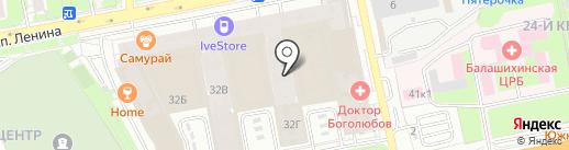 Кабинет психолога Вишняковой С.Н. на карте Балашихи