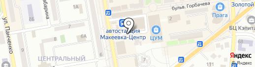 Быстроешка на карте Макеевки