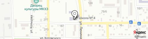 Макеевская общеобразовательная школа №4 на карте Макеевки