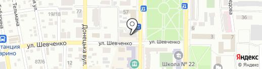 Мидес на карте Макеевки