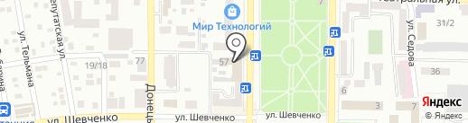 Макеевский учебный пункт Донецкого УКК на карте Макеевки