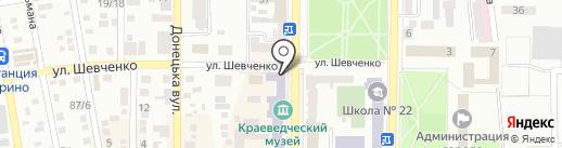 Мята на карте Макеевки