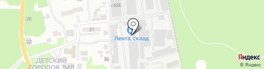 Лента на карте Лыткарино