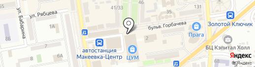 Диамант на карте Макеевки