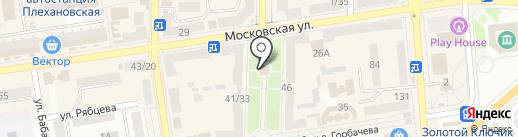 Арлекин на карте Макеевки