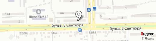 Альфа Дент на карте Макеевки