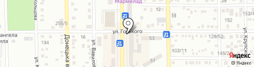 Пряник на карте Макеевки