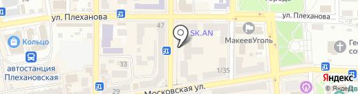 Ткани-Гардины на карте Макеевки