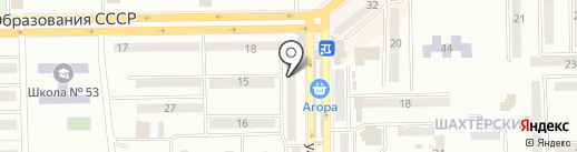 Одея на карте Макеевки