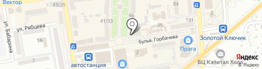 Киоск по продаже печатной продукции на карте Макеевки