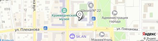 Салон оптики на карте Макеевки