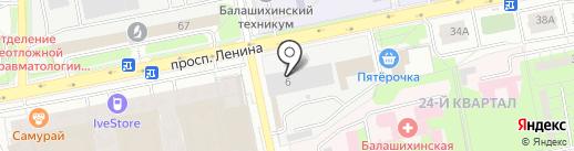 Экватерм на карте Балашихи