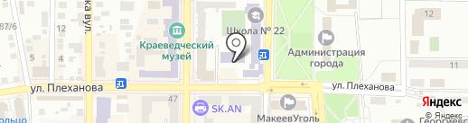 ДЮСШ №1 на карте Макеевки