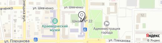 Макеевская общеобразовательная школа I-III ступеней №22 на карте Макеевки