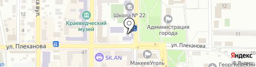 Прокуратура Центрально-Городского района г. Макеевки на карте Макеевки