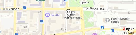 Высота на карте Макеевки