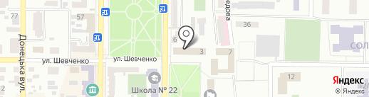 Платежный терминал, КБ ПриватБанк на карте Макеевки