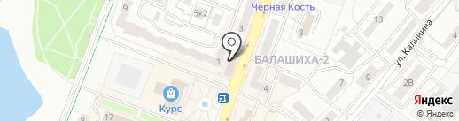 Объединенные переводчики на карте Балашихи