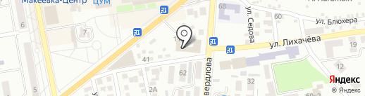Центрально-Городской районный суд, г. Макеевка на карте Макеевки