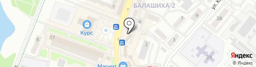 Сабдэй на карте Балашихи