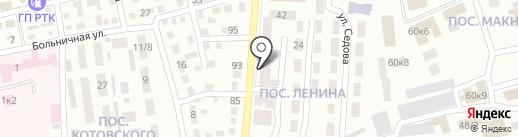 Аквалис на карте Макеевки