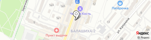 Элла на карте Балашихи