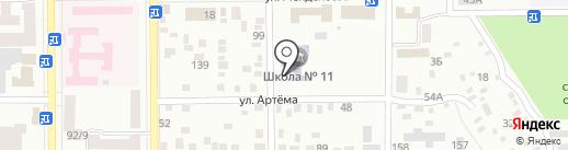 Макеевская общеобразовательная школа I-III ступеней №11 на карте Макеевки