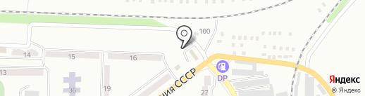 Автостоянка на ул. Железнодорожный квартал на карте Макеевки