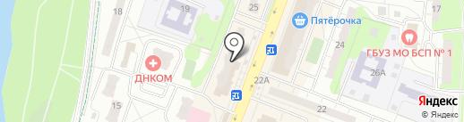 Скрепка и кнопка на карте Балашихи