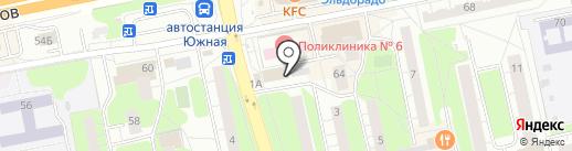 Южка на карте Балашихи