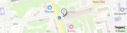 Карандаш на карте Балашихи