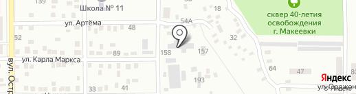 Макеевское межрайонное специализированное ремонтно-строительное предприятие противопожарных работ на карте Макеевки