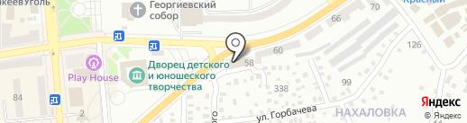 WD пласт на карте Макеевки