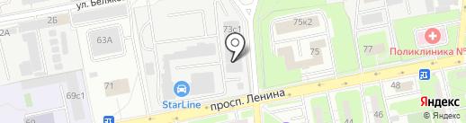 Артлайн на карте Балашихи