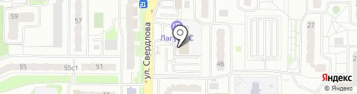 АЗС Лагуна-С на карте Балашихи